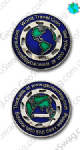 World Traveller Geocoin - Blue
